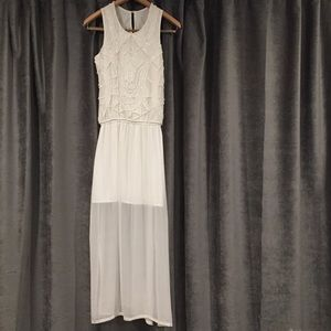 Beautiful Beaded White Dress